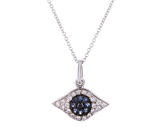 Blue Sapphire Kitten Eye Pendant Necklace - TWISTonline