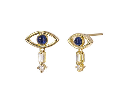 Sapphire and Diamond Evil Eye Earrings - TWISTonline