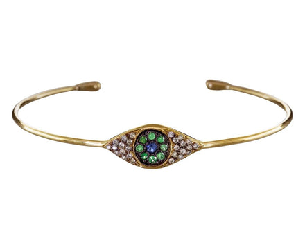 Diamond and Sapphire Cat's Eye Cuff Bracelet - TWISTonline