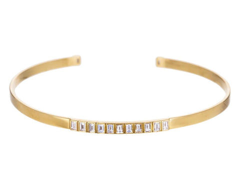 Thread Baguette Diamond Cuff Bracelet - TWISTonline