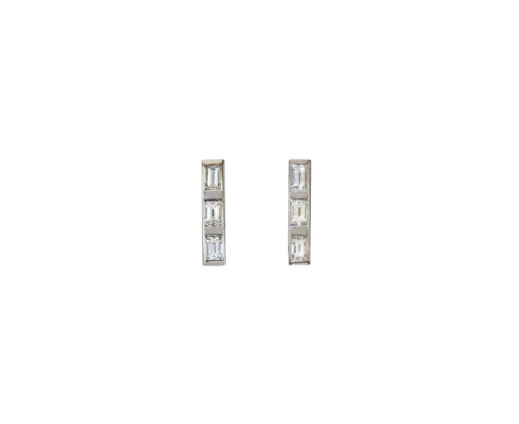 Short Thread Baguette Diamond Stud Earrings   zoom 1_ileana_makri_white_gold_diamond_thread_earrings