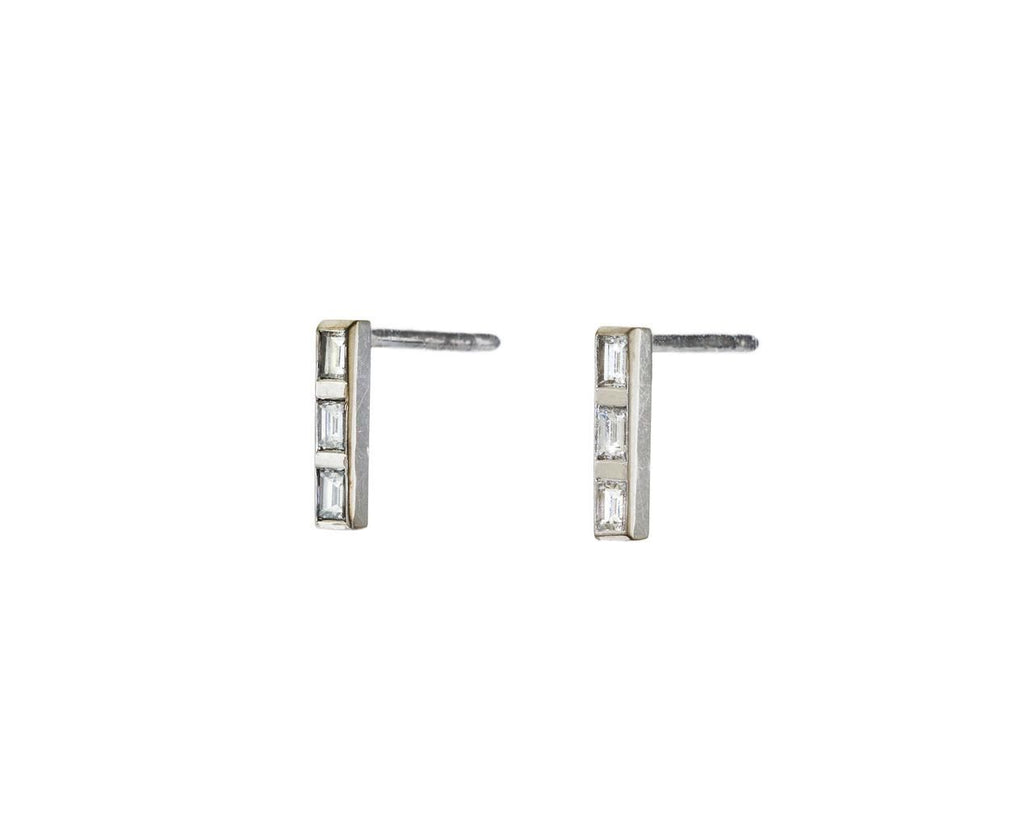 Short Thread Baguette Diamond Stud Earrings   zoom 2_ileana_makri_white_gold_diamond_thread_earrings