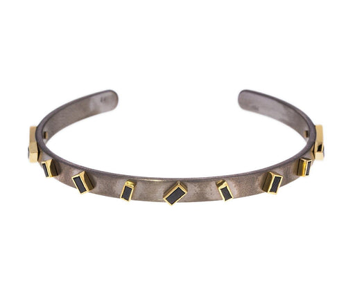 Titanium Cuff with Black Diamond Baguettes - TWISTonline