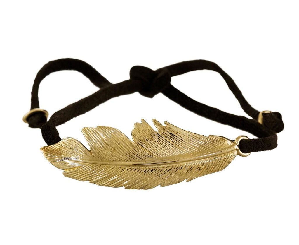 Feather and Leather Bracelet zoom 1_manon_bracelet