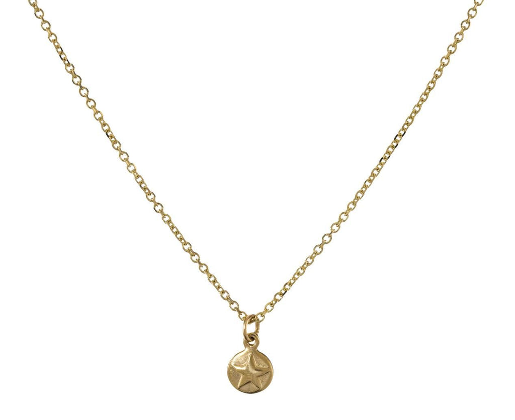 Star and Moon Disc Pendant Necklace - TWISTonline