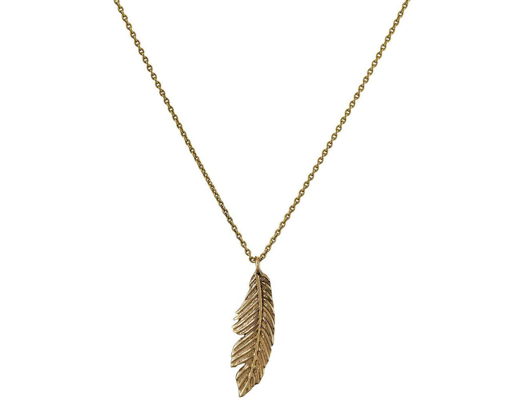 Feather Pendant Mini Necklace - TWISTonline