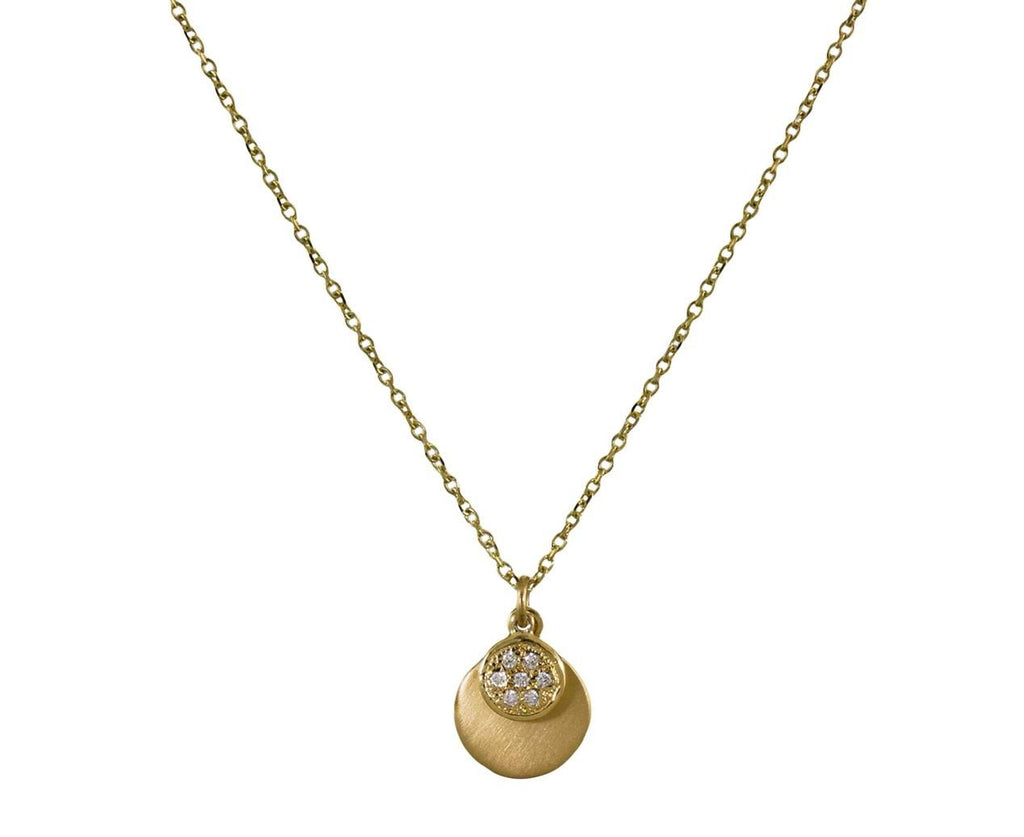 Double Disc Pendant Necklace - TWISTonline