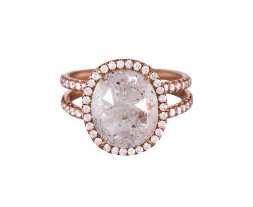 Rustic Diamond Double Band Halo Solitaire - TWISTonline