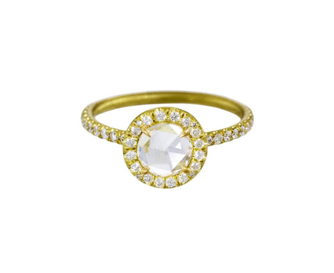 Round Rose Cut Diamond Solitaire - TWISTonline