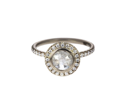 Ice Gray Diamond Halo Solitaire - TWISTonline