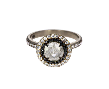 Ice Gray Diamond Double Halo Solitaire - TWISTonline