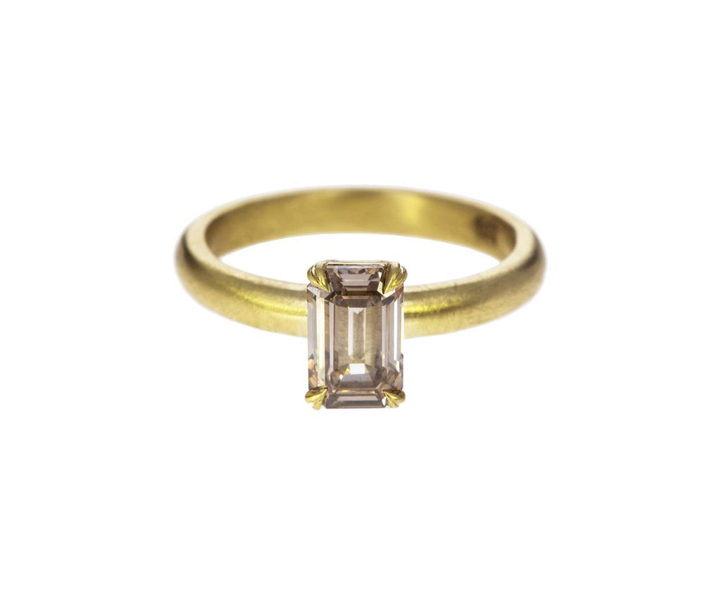 Emerald Cut Champagne Diamond Solitaire - TWISTonline