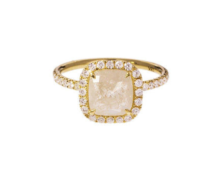 Cushion Cut Diamond Halo Solitaire - TWISTonline