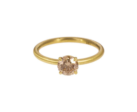 Full Cut Champagne Diamond Soliatire - TWISTonline
