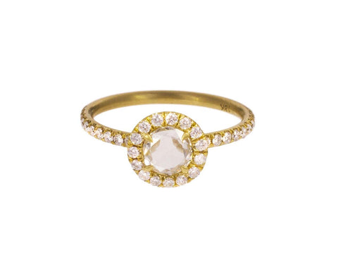 Rose Cut Diamond Halo Solitaire - TWISTonline