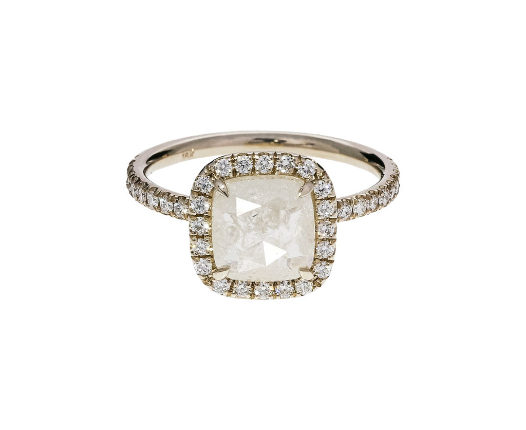 Cushion Cut Halo Diamond Solitaire