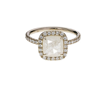 Cushion Cut Halo Diamond Solitaire - TWISTonline