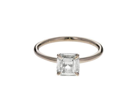 Square Champagne Diamond Solitaire - TWISTonline