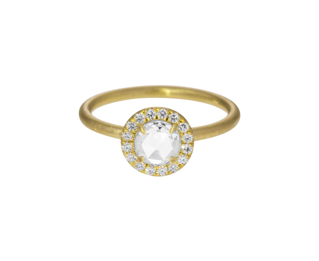 Rose Cut Halo Diamond Solitaire - TWISTonline