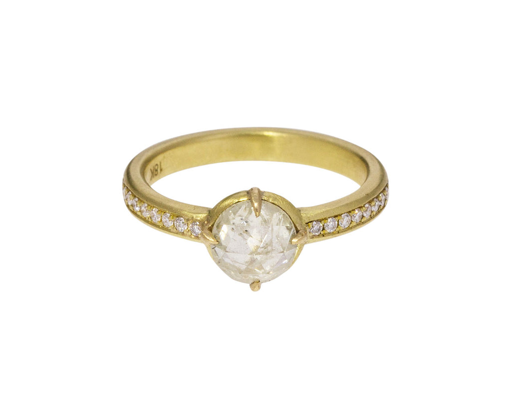 White Rustic Diamond Ring - TWISTonline