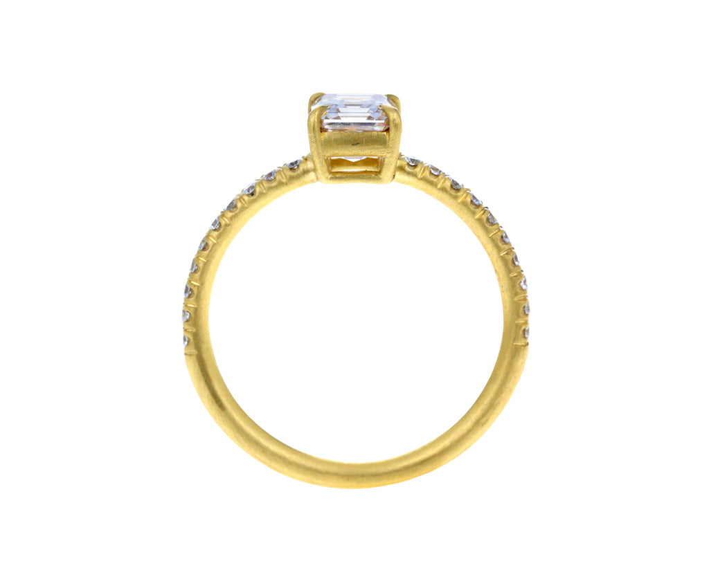 Light Champagne Asscher Cut Diamond Solitaire - TWISTonline