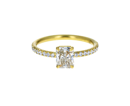Radiant Cut Champagne Diamond Solitaire
