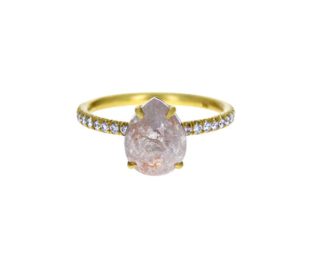 Rustic Pear Diamond Solitaire