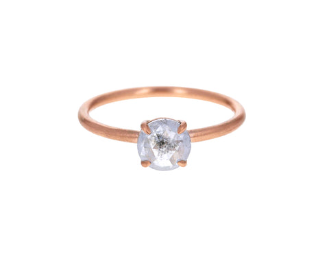 Light Gray Rose Cut Diamond Solitaire - TWISTonline