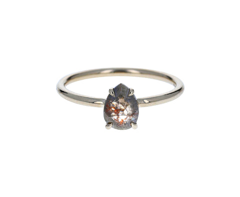 Gray Pear Diamond Solitaire - TWISTonline