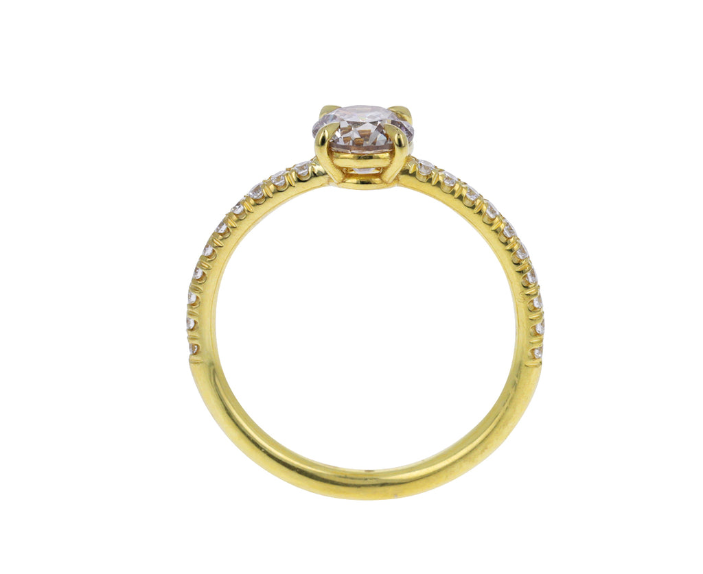 Full Cut Champagne Diamond Ring
