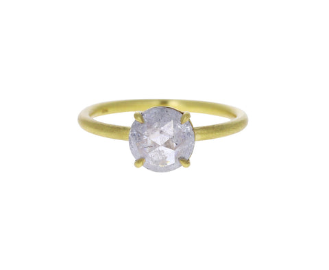 Round Rose Cut Diamond Solitaire