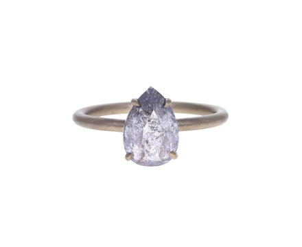 Rustic Pear Shaped Rose Cut Diamond Ring