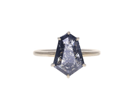 Kite Shaped Gray Rustic Diamond Solitaire