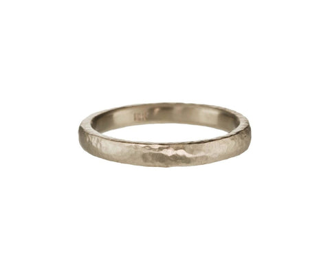 White Gold Wedding Band - TWISTonline