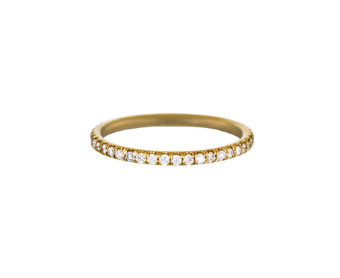 Yellow Gold Diamond Eternity Band - TWISTonline