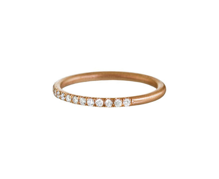 Rose Gold Half Diamond Wire Band - TWISTonline