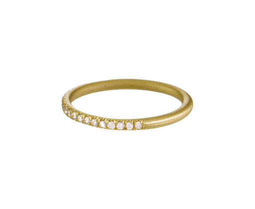 Yellow Gold Half Diamond Wire Band - TWISTonline