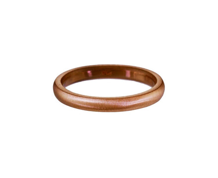 Half Round Rose Gold Band - TWISTonline