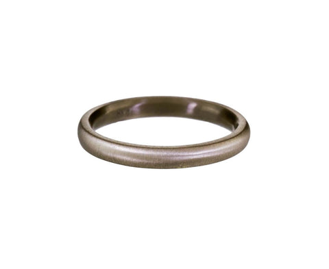 Half Round White Gold Band - TWISTonline
