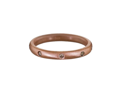 Rose Gold Champagne Diamond Band - TWISTonline
