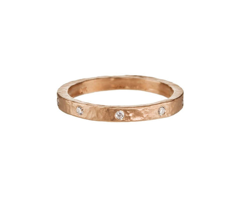 Rose Gold Diamond Band - TWISTonline