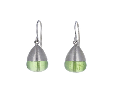 Mallary Marks Smooth Peridot Buoy Earrings