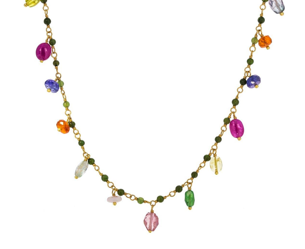 Multi-Gem Fringe Necklace - TWISTonline