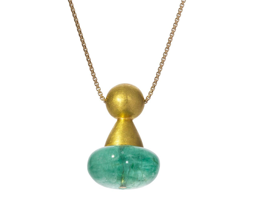 Emerald Chess Pawn Buoy Necklace - TWISTonline