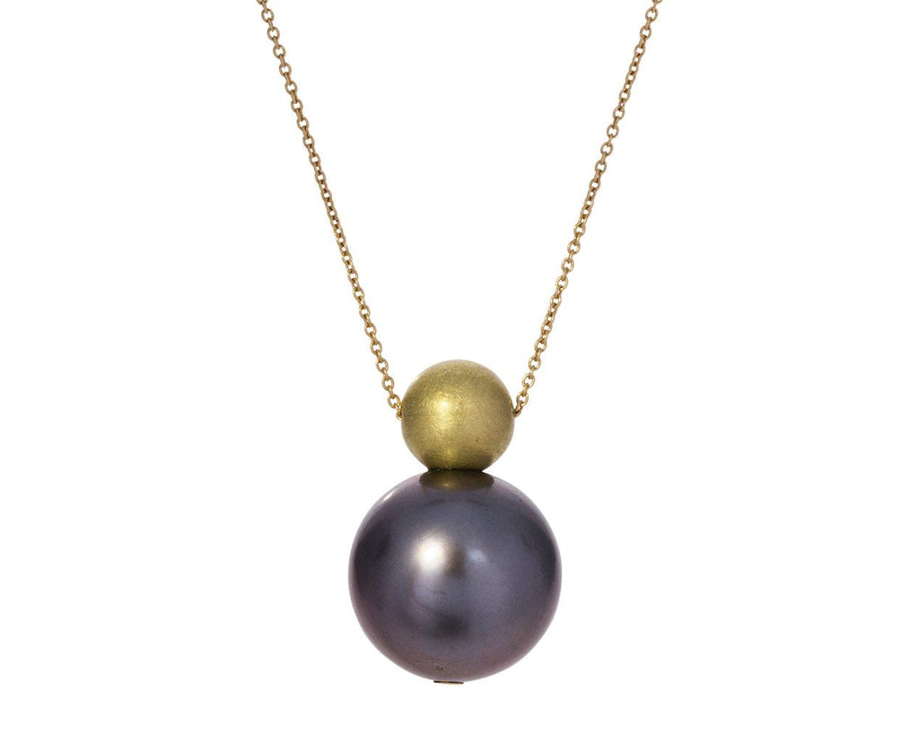 Gray Pearl Buoy Necklace - TWISTonline