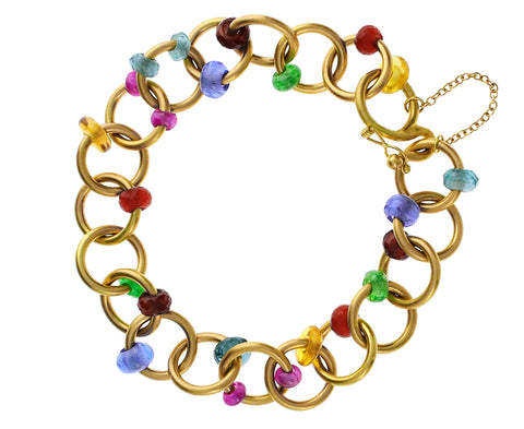 Multi Gem Chain Bracelet - TWISTonline