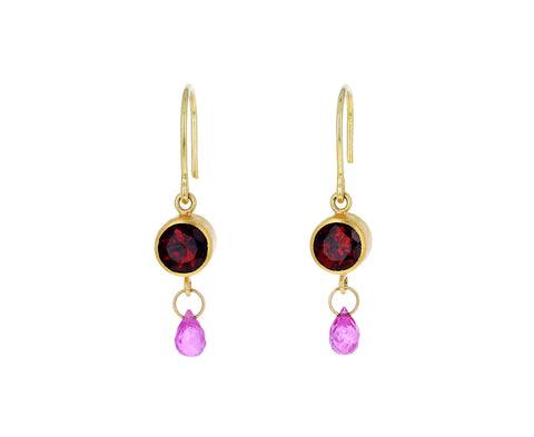 Garnet and Ruby Apple and Eve Earrings