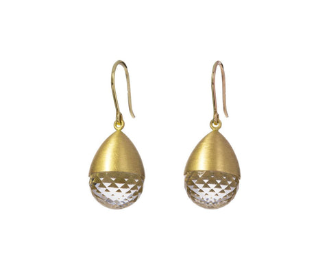 Faceted Quartz Buoy Earrings - TWISTonline