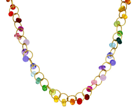 Rainbow Multi Gem Circus Necklace - TWISTonline