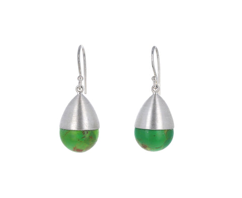 Green Turquoise Buoy Earrings